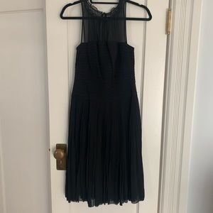 BCBG black micropleat dress